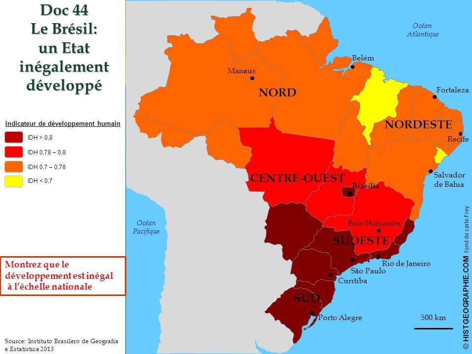Doc 44 Le Brésil: un Etat inégalement développé