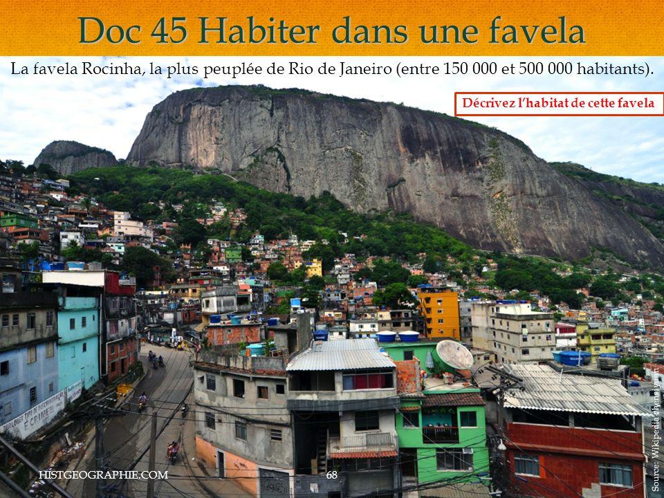 Doc 45 Habiter dans une favela