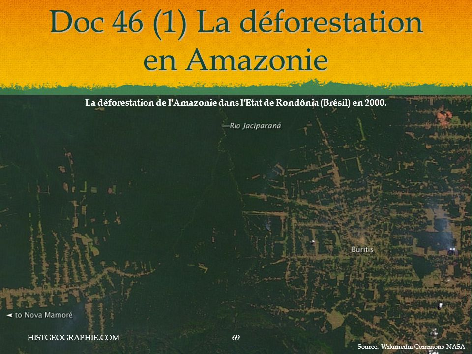 Doc 46 (1) La déforestation en Amazonie