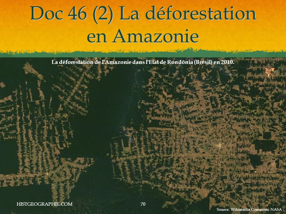 Doc 46 (2) La déforestation en Amazonie