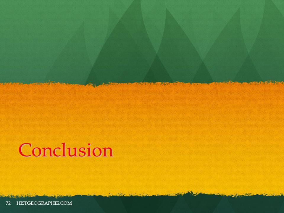 Conclusion HISTGEOGRAPHIE.COM