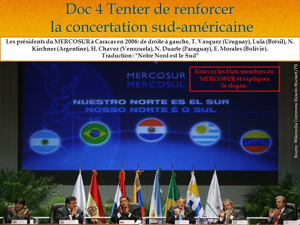 Doc 4 Tenter de renforcer la concertation sud-américaine