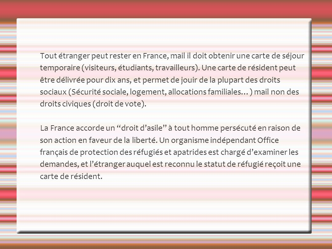 Le citoyen fran ais ppt video online t l charger - Office francais de protection des refugies et apatrides ...