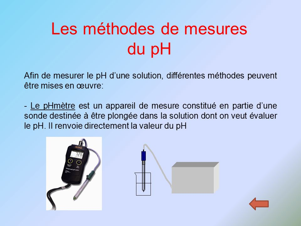 Activit introduction au ph trois types de solution ppt video online t l charger - Comment mesurer le ph ...