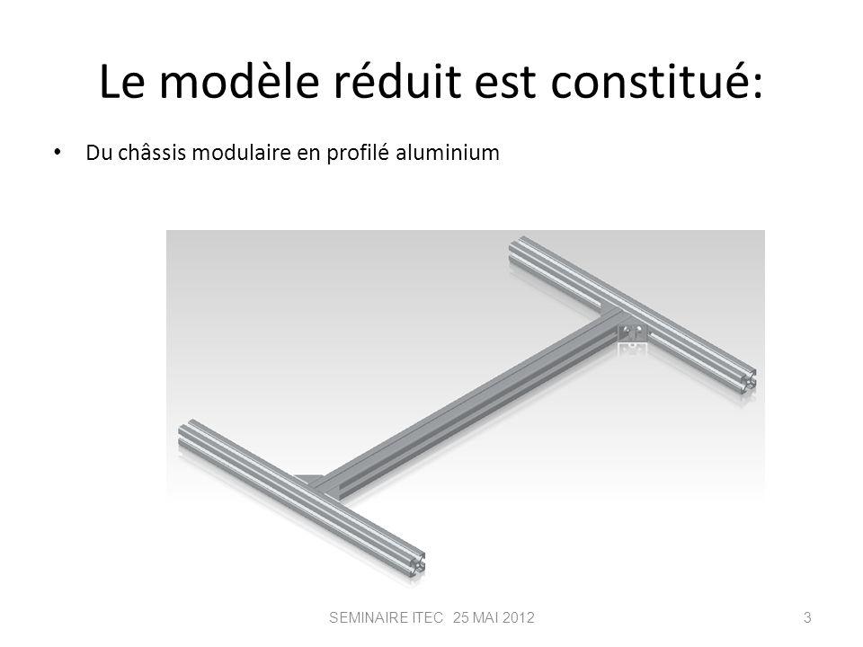 Le modèle réduit est constitué: