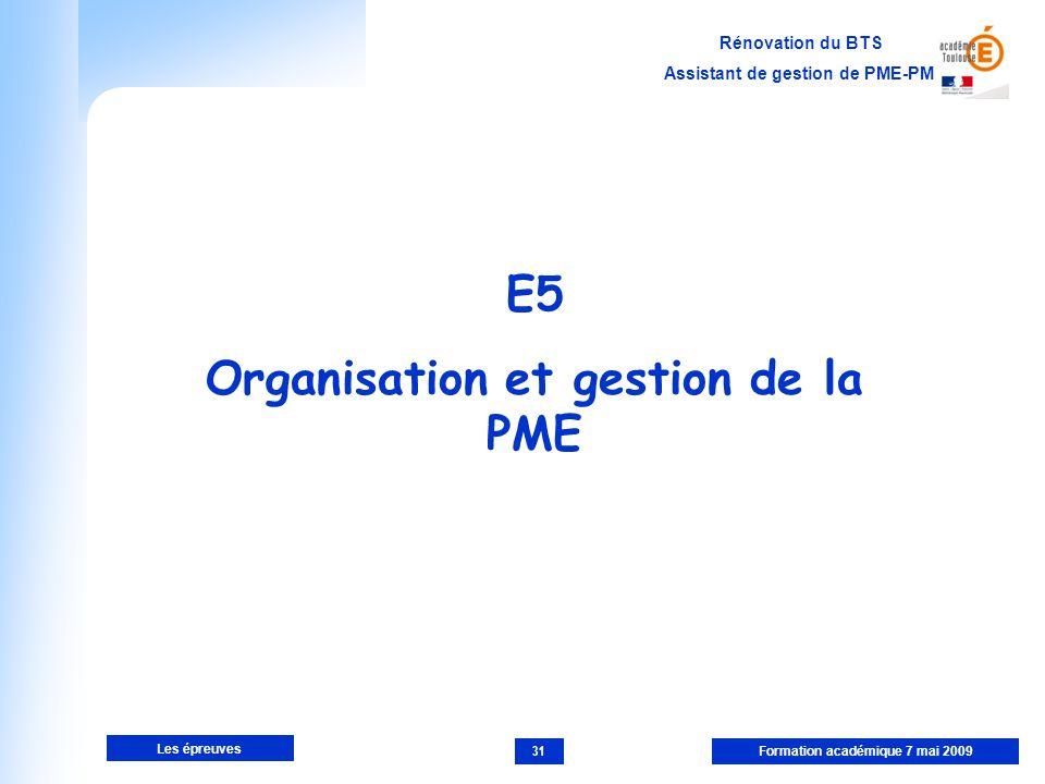 Organisation et gestion de la PME