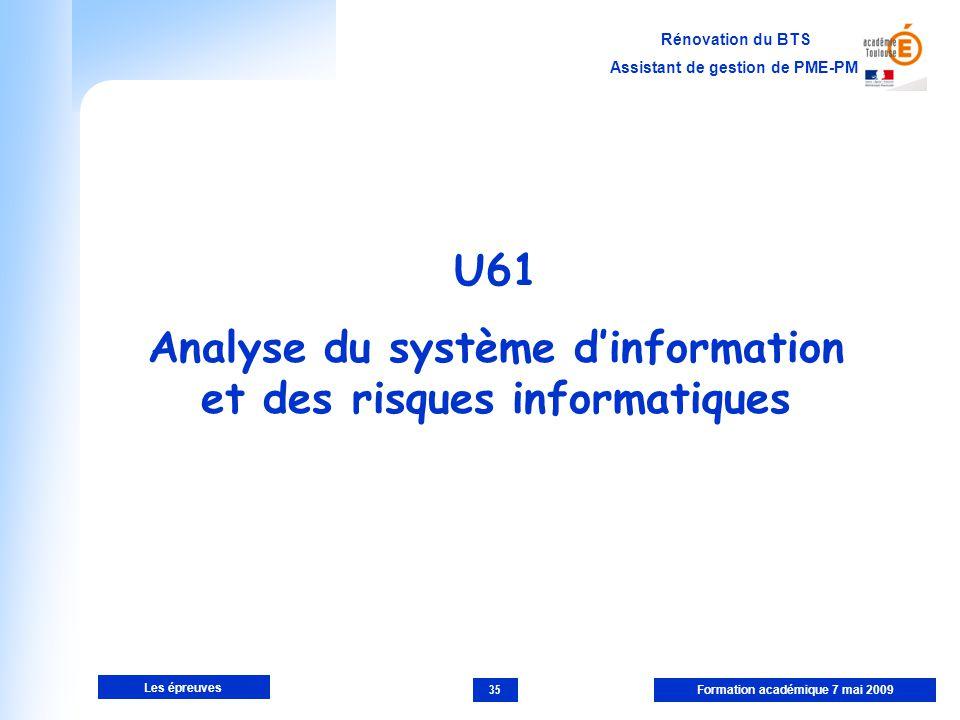 Analyse du système d'information et des risques informatiques