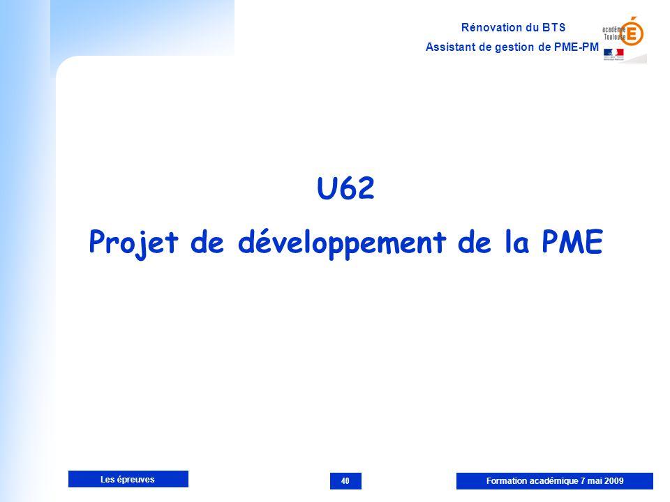 Projet de développement de la PME