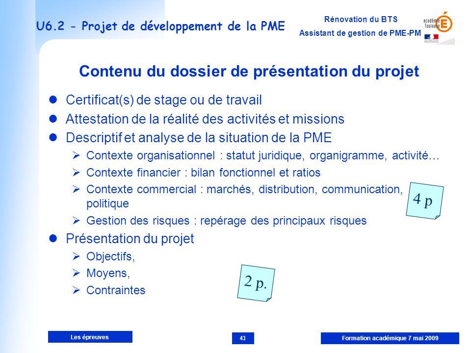 U6.2 - Projet de développement de la PME