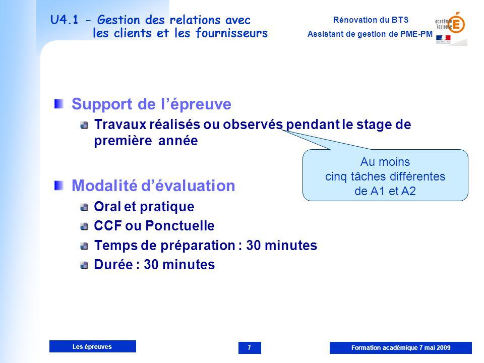U4.1 - Gestion des relations avec les clients et les fournisseurs