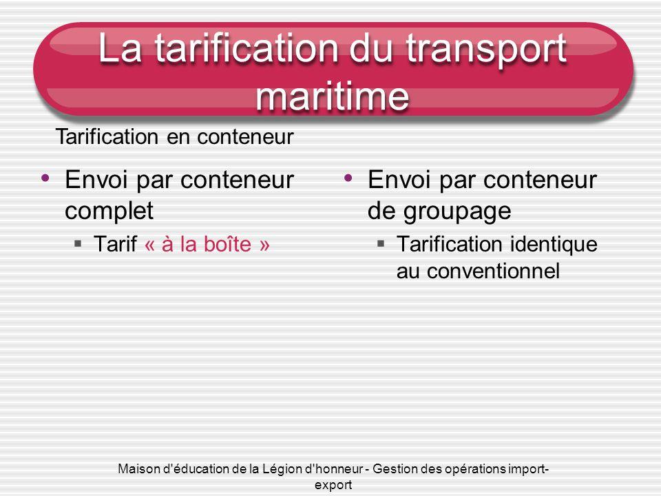 Chapitre 3 l achat de transport maritime ppt video for Conteneur reunion tarif