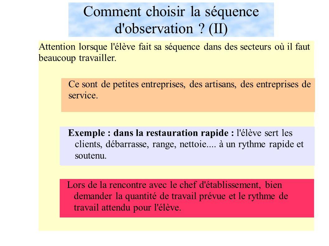 Comment choisir la séquence d observation (II)