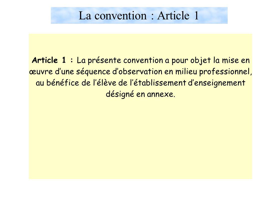 La convention : Article 1