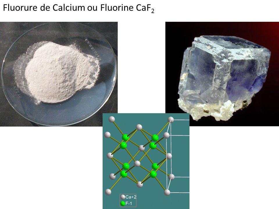 Fluorure de Calcium ou Fluorine CaF2