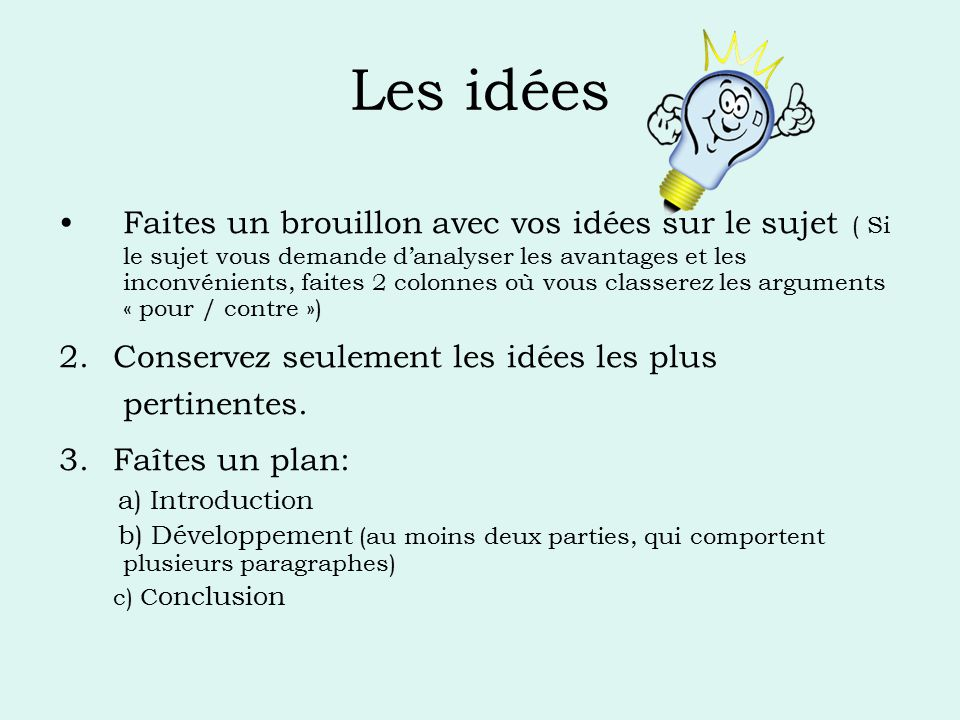 L essai argumentatif ppt video online t l charger for Faites vos propres plans libres