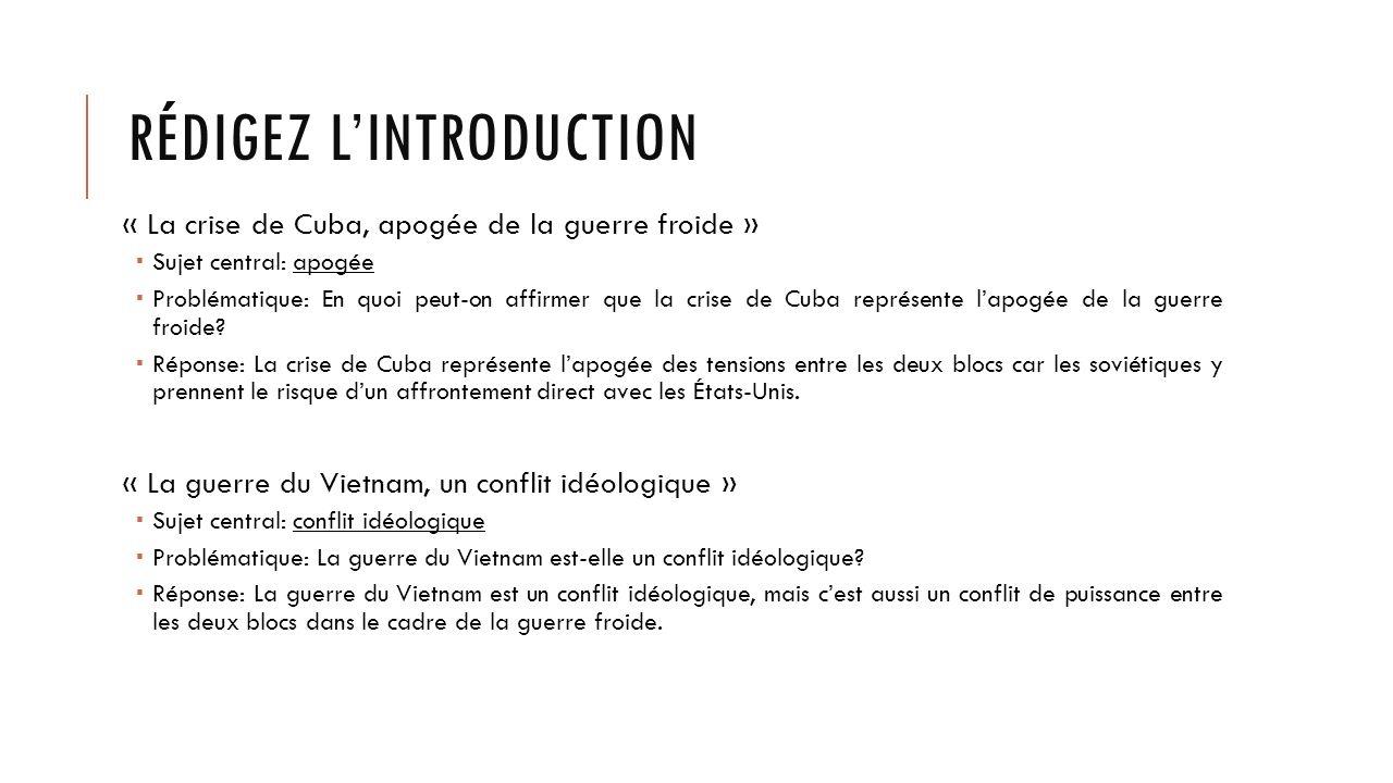 dissertation guerre froide introduction La guerre froide introduction la grande alliance préservée à yalta (février 1945 ), à nuremberg (novembre 1945 - octobre 1946), et à propos des nouvelles.
