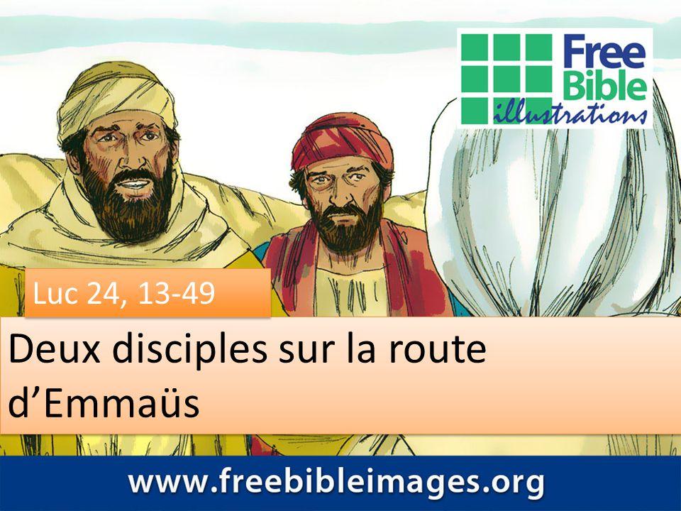 Deux disciples sur la route d'Emmaüs