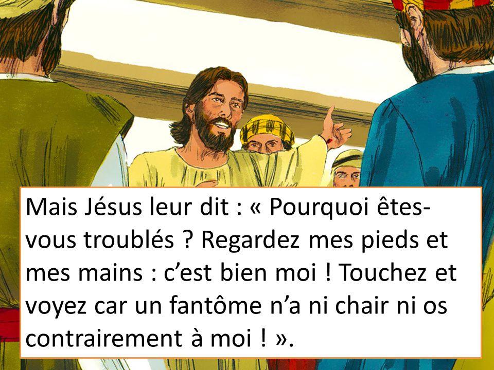 Mais Jésus leur dit : « Pourquoi êtes-vous troublés