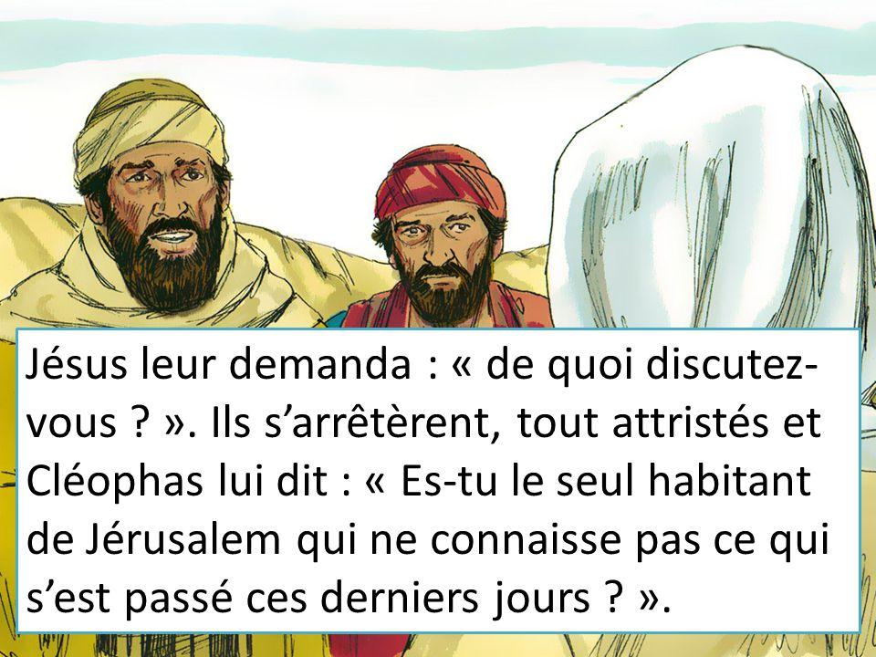 Jésus leur demanda : « de quoi discutez-vous. »