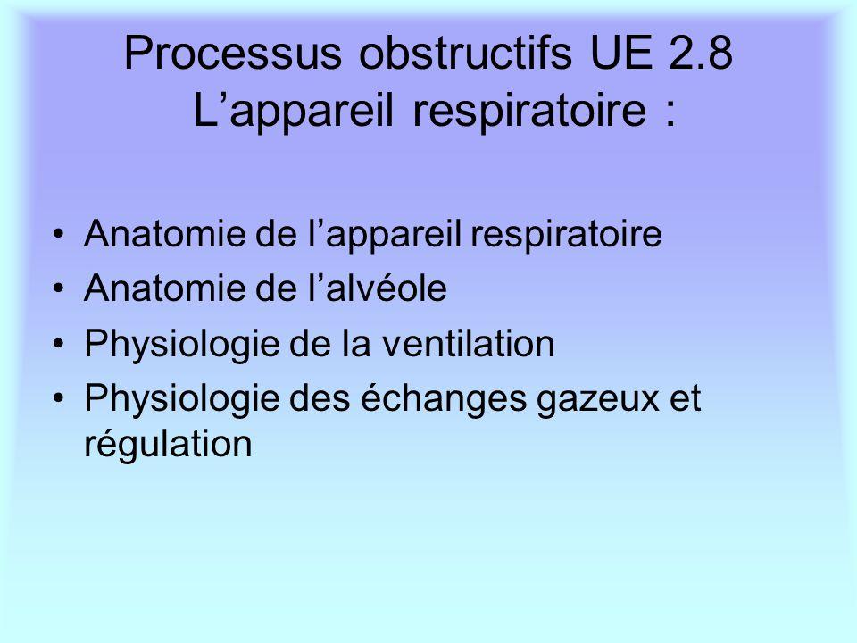 Processus obstructifs UE 2.8 L'appareil respiratoire :