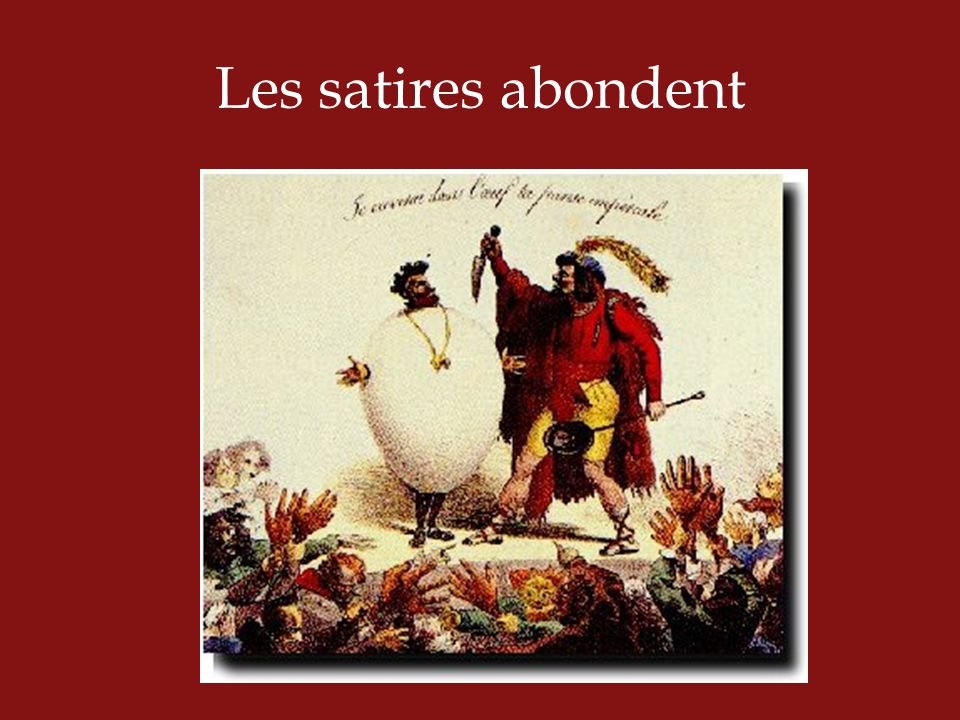 Les satires abondent