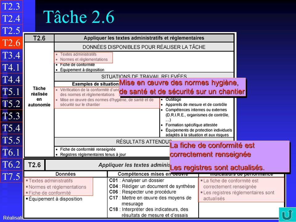 T2.3 Tâche 2.6. T2.4. T2.5. T2.6. T3.4. T4.1. T4.4. Mise en œuvre des normes hygiène, de santé et de sécurité sur un chantier.
