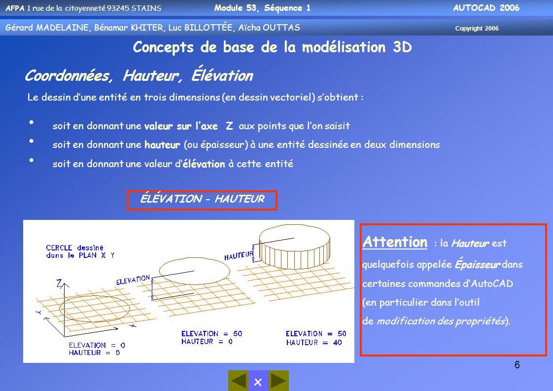 Concepts de base de la modélisation 3D