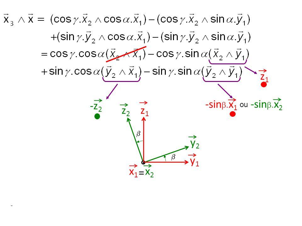z1 -z2 -sin.x1 -sin.x2 ou z2 z1  y2  y1 x1 = x2 45