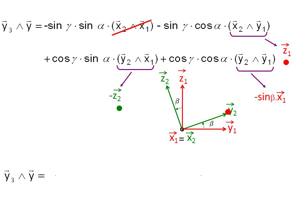 z1 z1 y1 z2 y2  = x2 x1 -z2 -sin.x1 57