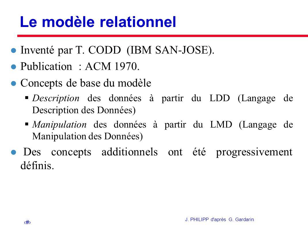 Le mod le relationnel plan 1 concepts descriptifs ppt - Exemple base de donnees open office ...