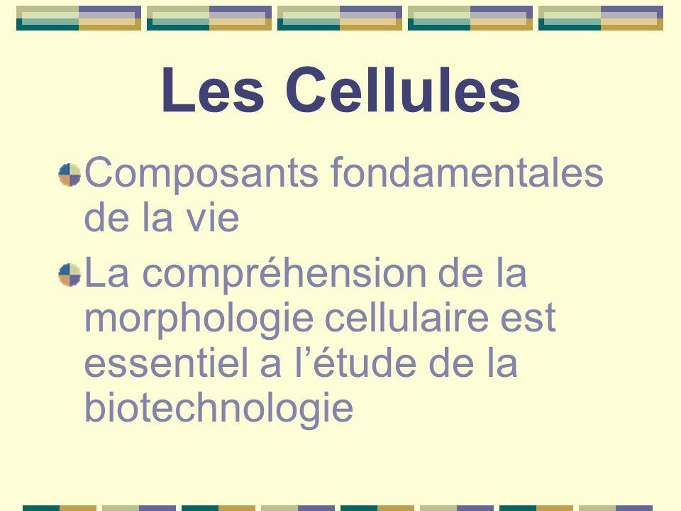 Les Cellules Composants fondamentales de la vie