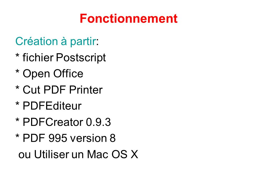Pdf un format universel ppt video online t l charger - Comment convertir un fichier pdf en open office ...