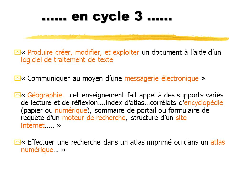 encyclopedie cycle 3