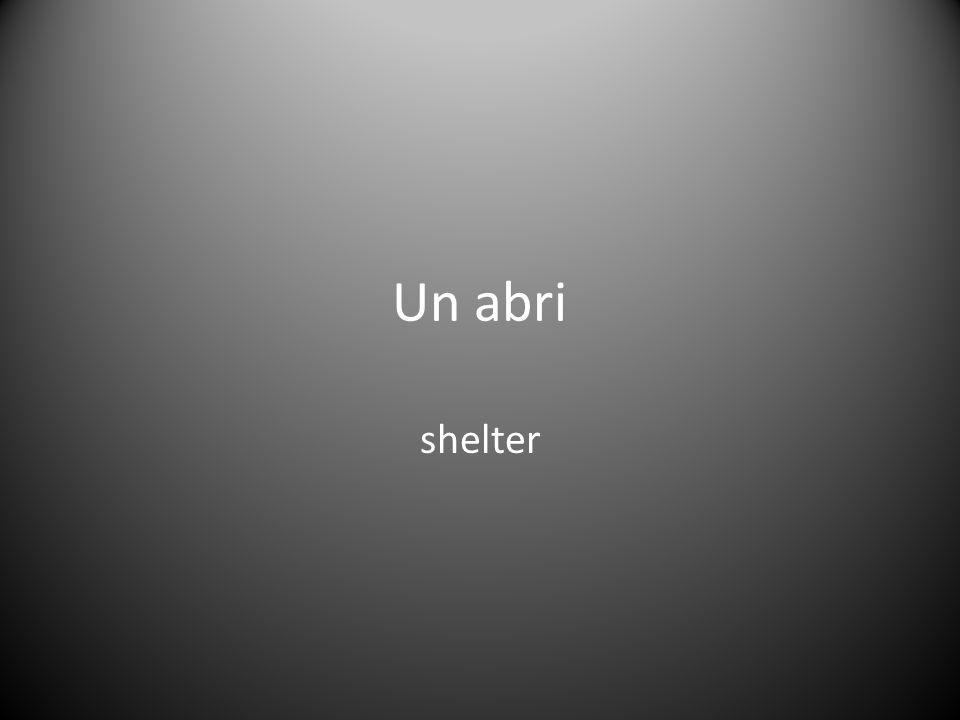 Un abri shelter