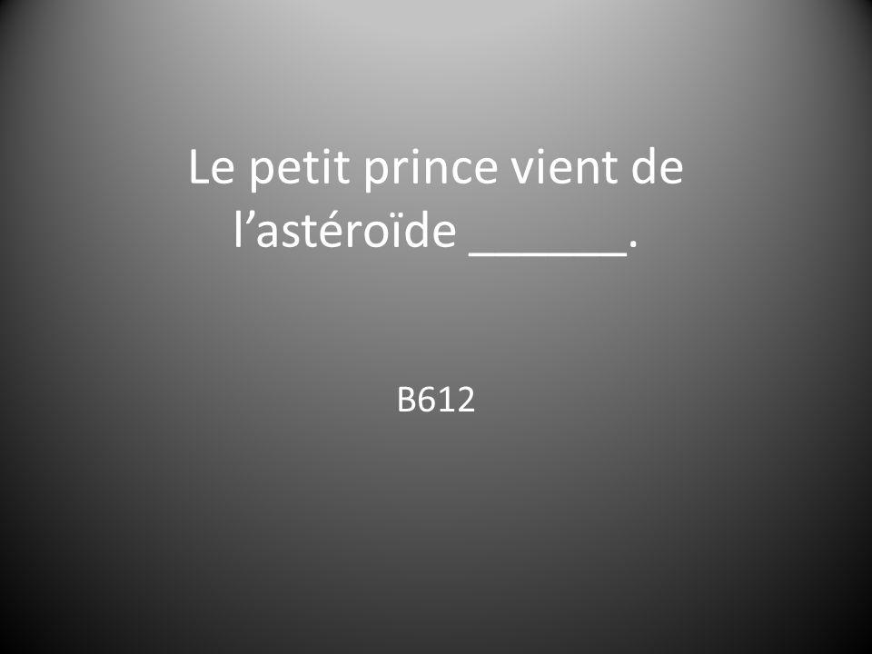 Le petit prince vient de l'astéroïde ______.
