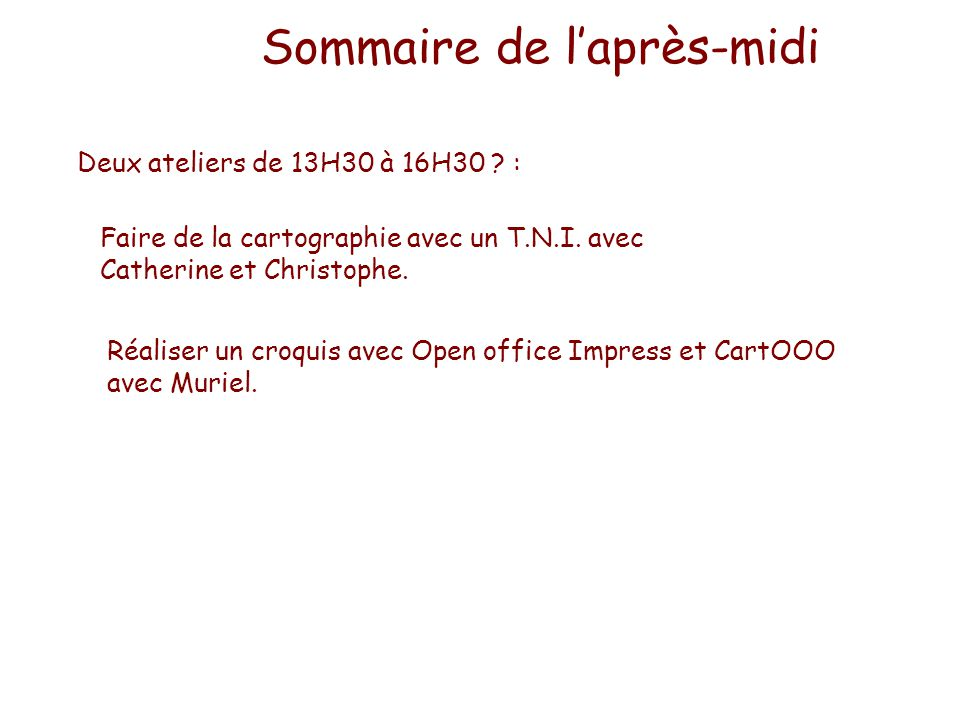 Cartographie num rique et tude de cas ppt t l charger - Faire un diaporama avec open office ...
