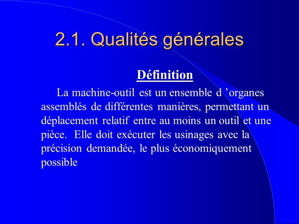 2.1. Qualités générales Définition