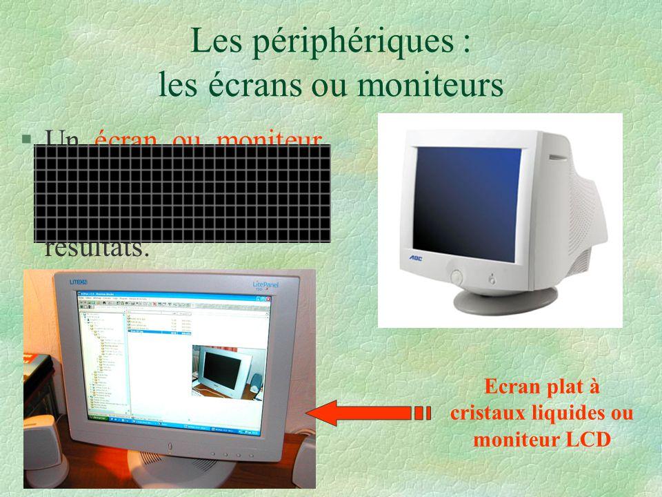 Les périphériques : les écrans ou moniteurs