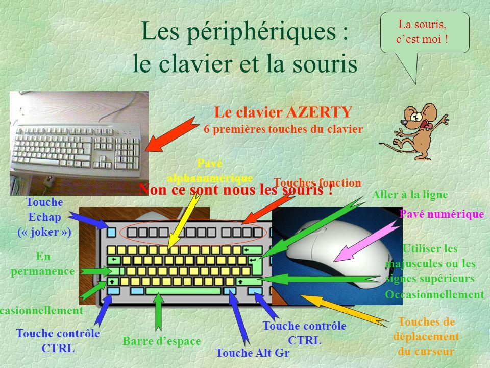 Les périphériques : le clavier et la souris