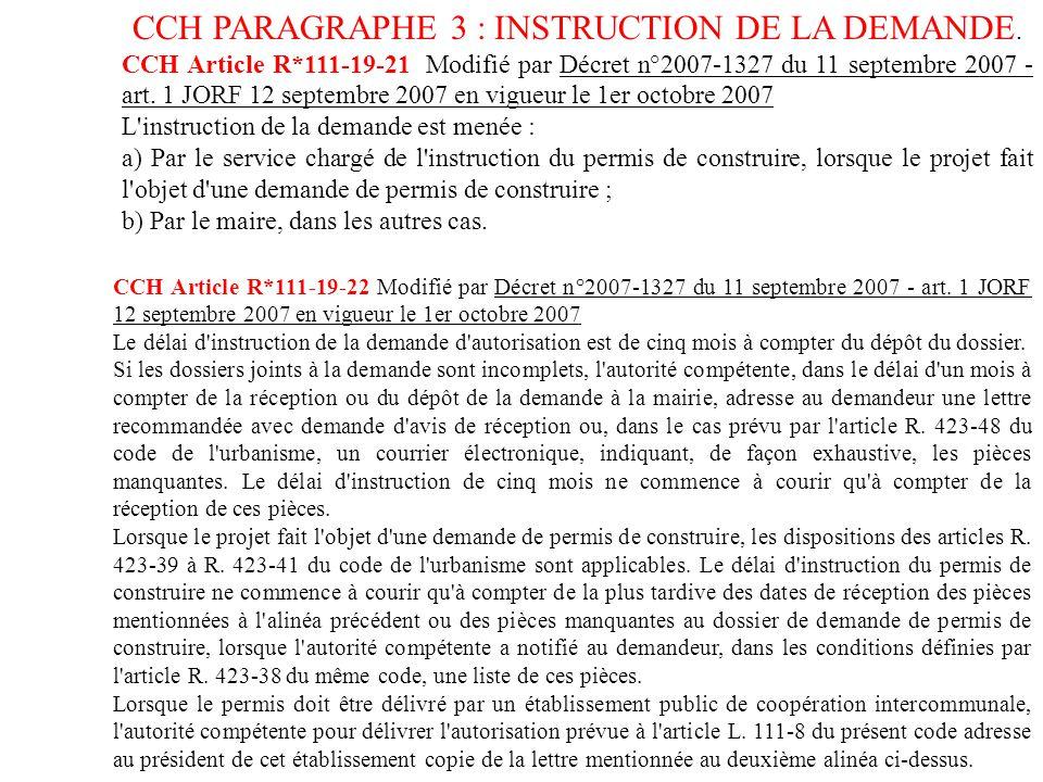 CCH Article R*111-19-21 Modifié par Décret n°2007-1327 du 11 ...
