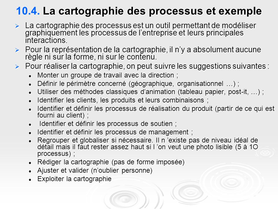 10.4. La cartographie des processus et exemple
