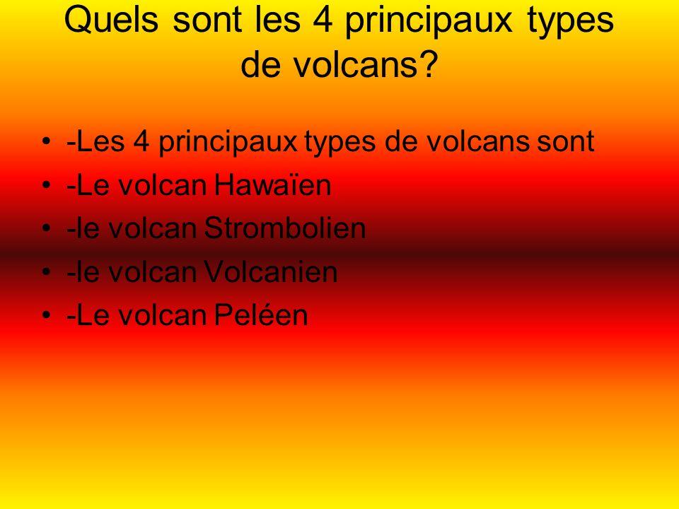 Quels sont les 4 principaux types de volcans