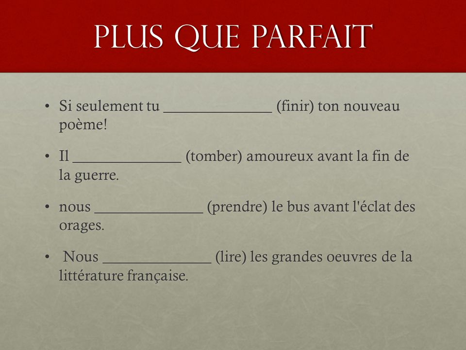 passe compose vs imparfait pdf