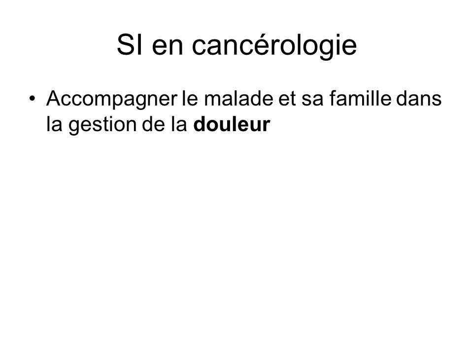 SI en cancérologie Accompagner le malade et sa famille dans la gestion de la douleur