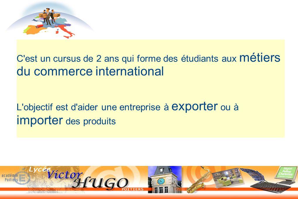 Le bts commerce international ppt t l charger for C du commerce