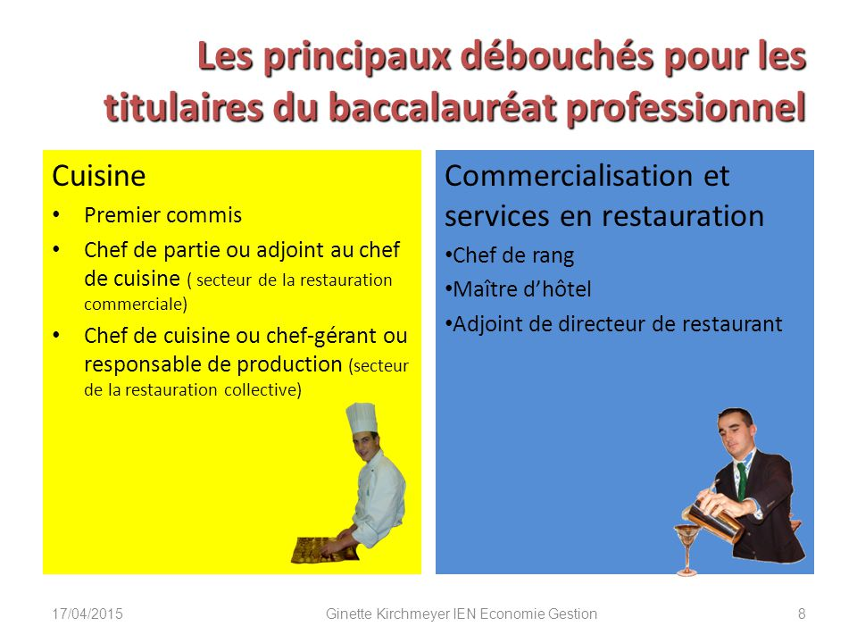 La r novation des deux baccalaur ats professionnels ppt for Diplome restauration collective