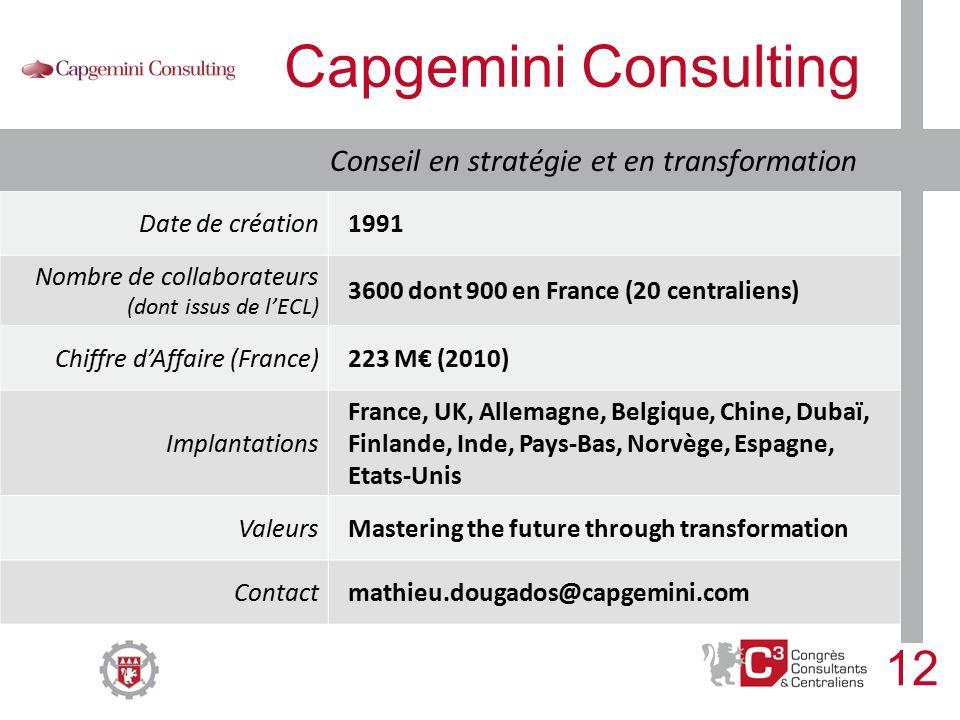 Congr s consultants centraliens lundi 5 d cembre 2011 - Cabinet de conseil en strategie paris ...