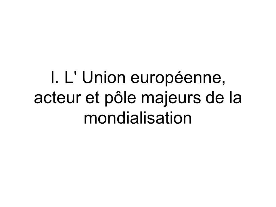 I. L Union européenne, acteur et pôle majeurs de la mondialisation