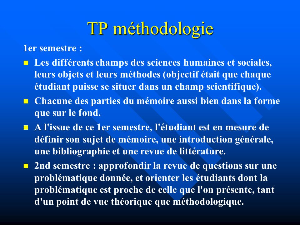 TP méthodologie 1er semestre :