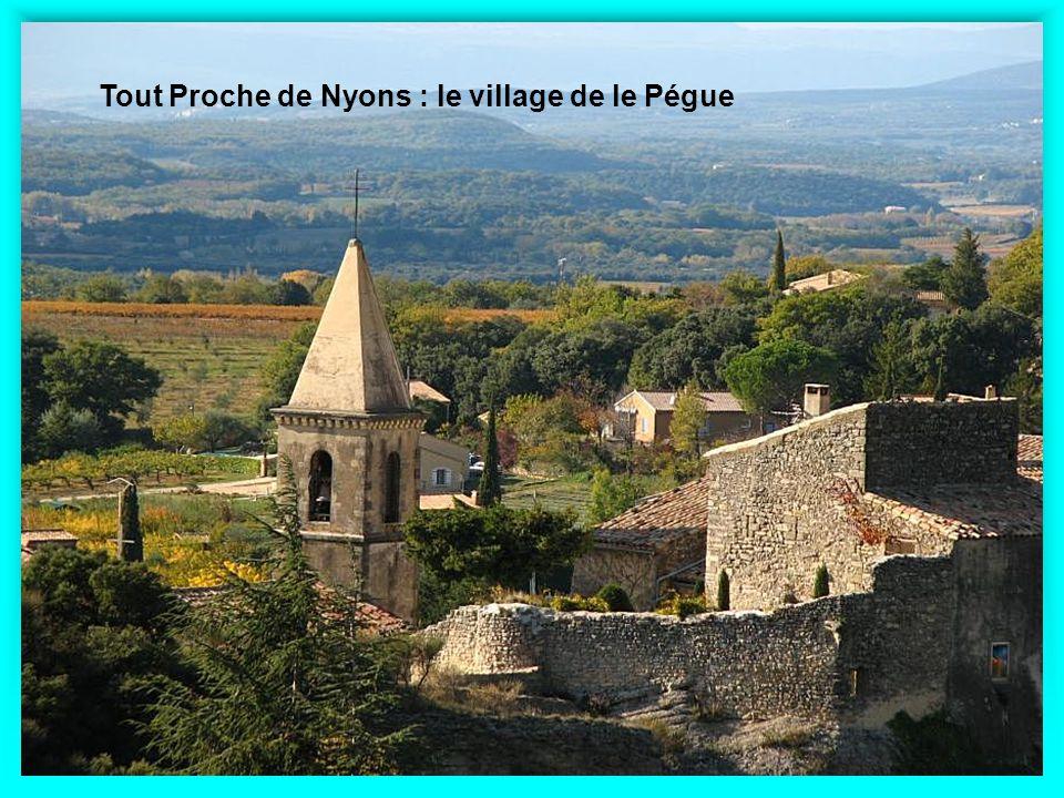 Tout Proche de Nyons : le village de le Pégue
